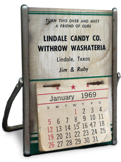 lindale candy co calendar